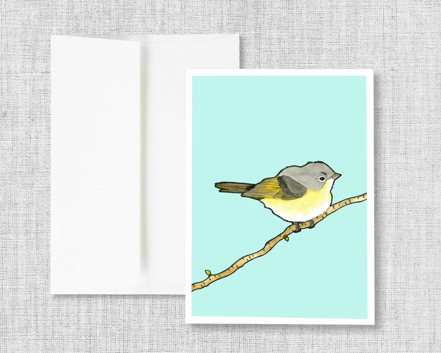 Greeting card blank greeting card greeting card set bird greeting card blank greeting card greeting card set bird watercolor yellow blue drawing blank cards card set american redstart m4hsunfo