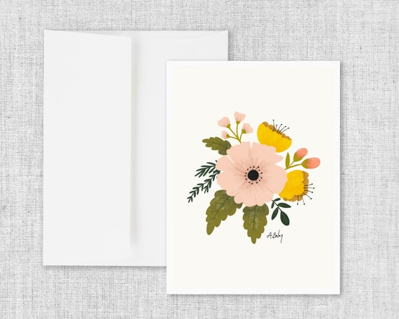 Country Petals - Greeting Card