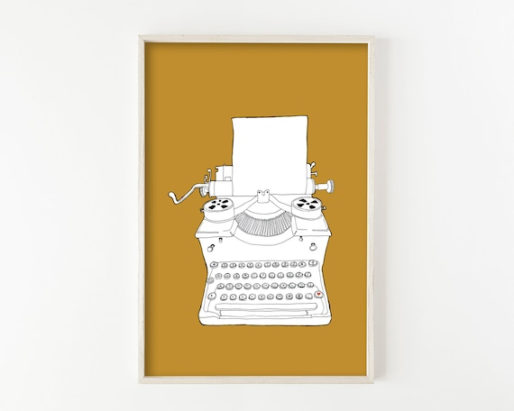 """Typewriter No. 3"" - wall art print"
