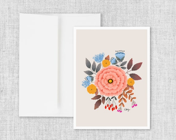 Homegrown - blank greeting card