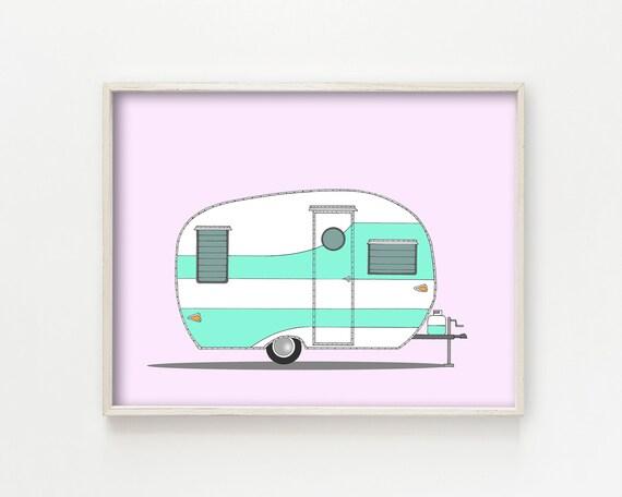 """""""Vintage Shasta Camper"""" - wall art print"""
