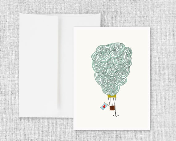 Cloud Balloon No. 3 - Greeting Card
