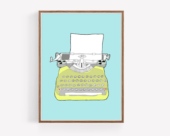 """Vintage Typewriter No. 6"""