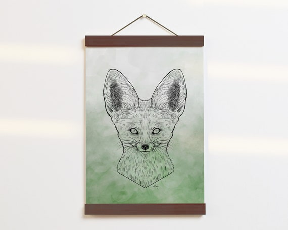 """Fennec Fox Portrait"" - STUDIO SALE!"