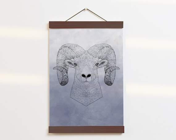"""Bighorn Sheep Portrait"" - STUDIO SALE!"