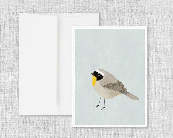 Common Yellowthroat Birdie - Greeting Card