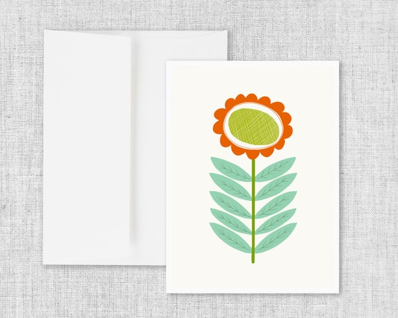 Mid Mod Flower No. 3 - Greeting Card