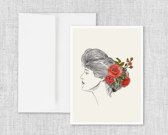 """""""Carry Beauty"""" - blank greeting card"""