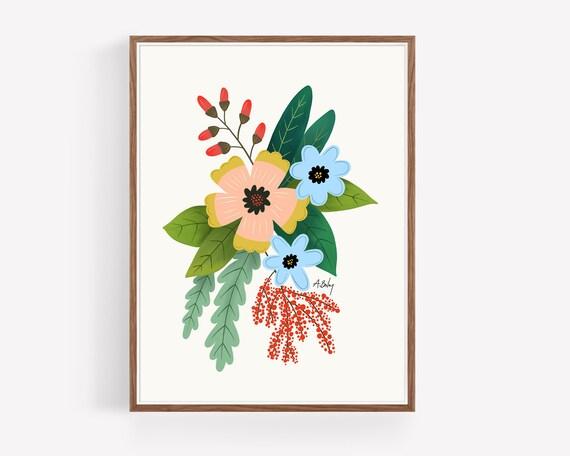 """Folk Art Flowers No. 4"""