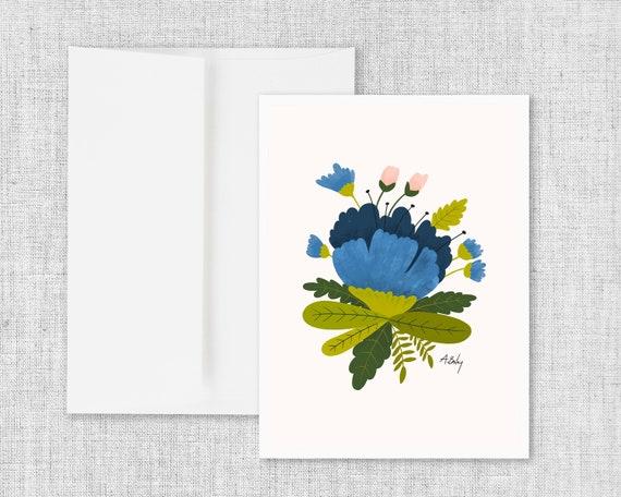 Royal Blue - Greeting Card