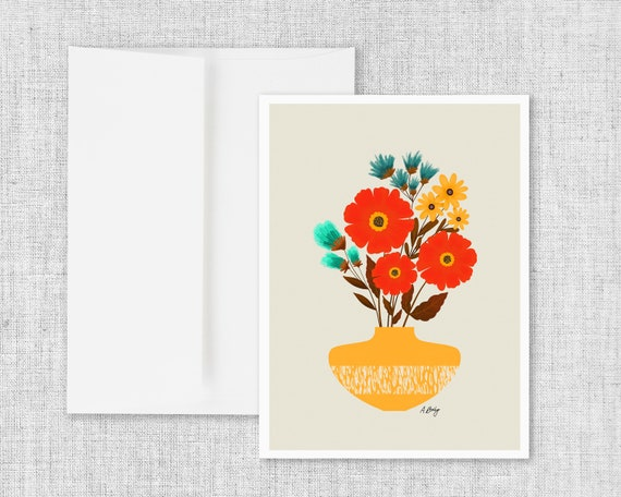 Dream On - Floral Greeting Card