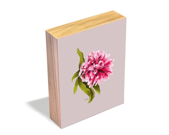 Blush - Wood Art Block
