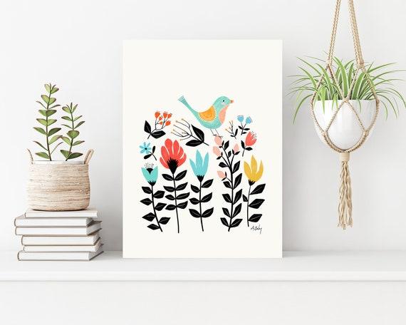 """Folk Art Garden"" on canvas"
