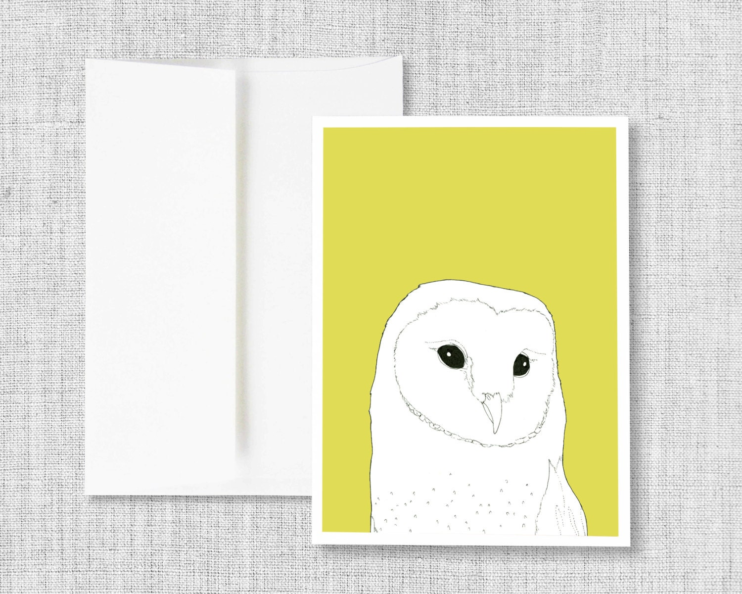 Greeting card blank greeting card greeting card set owl barn owl greeting card blank greeting card greeting card set owl barn owl yellow owl art drawing blank cards card set bird barn owl m4hsunfo
