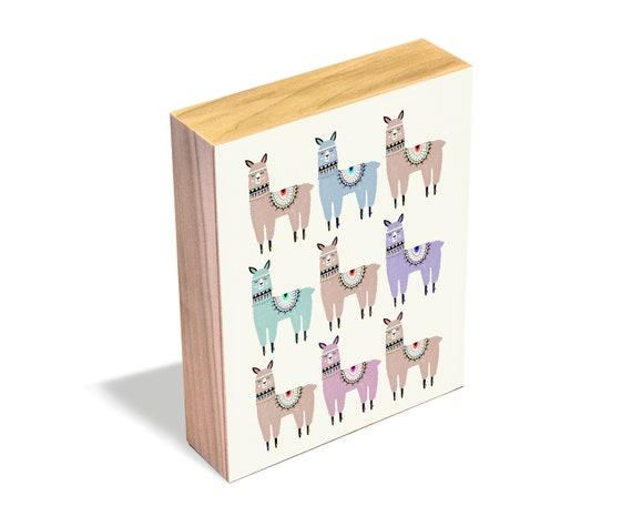 Alpaca Stack - Wood Art Block