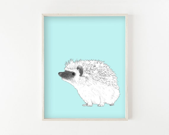 """Hedgehog"" - wall art print"