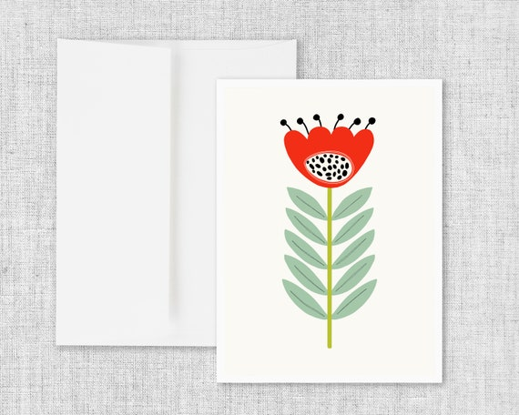 Mid Mod Flower No. 2 - Greeting Card