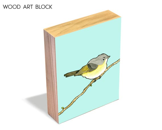 American Redstart - Wood Art Block
