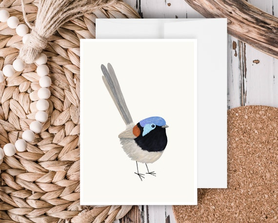"""Fairy Wren"" - Greeting Card"