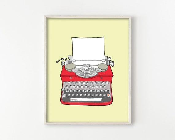 Vintage Typewriter Wall Art Print