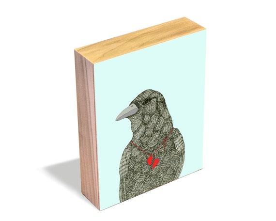 Broken Heart - Wood Art Block