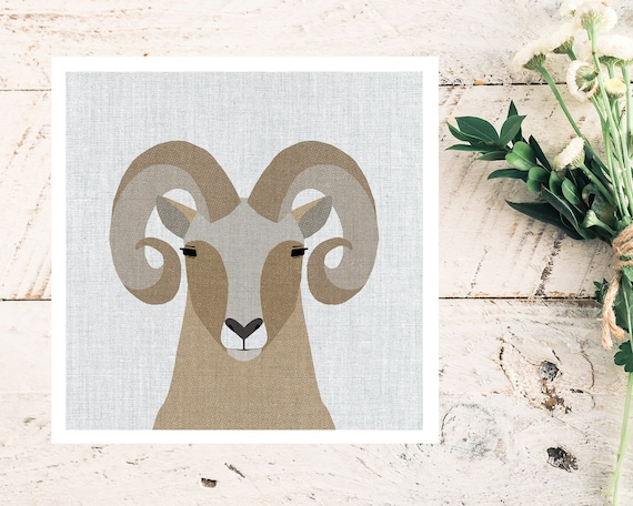 """Modern Bighorn Sheep"" - STUDIO SALE!"