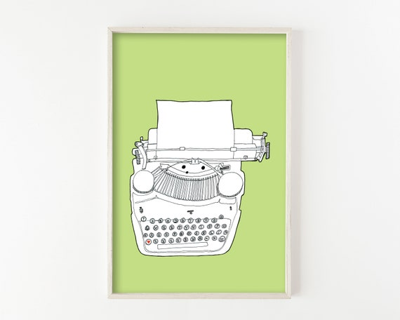 """Typewriter No. 5"" - wall art print"