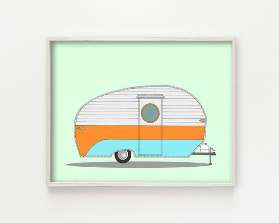 """Va-Ka-Shun-Ette Camper"" - wall art print"