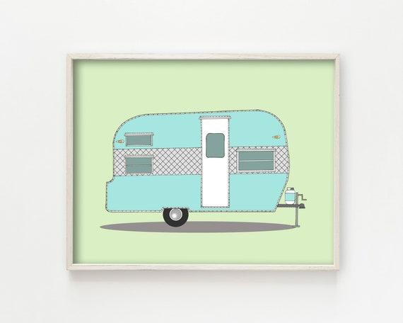 """Frolic Camper"" - wall art print"