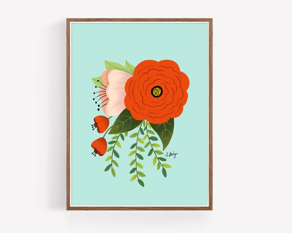 """Folk Art Flowers No. 2"""