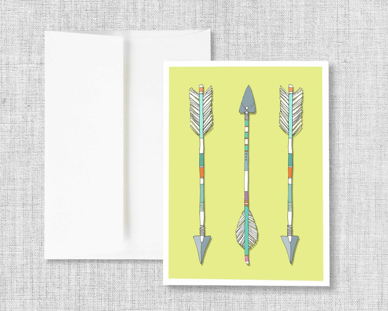 Greeting Card Blank Greeting Card Greeting Card Set Arrows