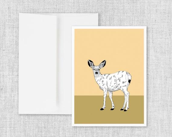 Doe - Blank Greeting Card