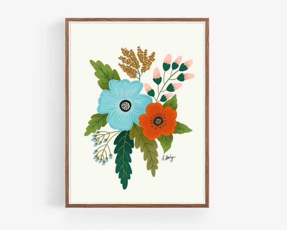 """Folk Art Flowers No. 5"""