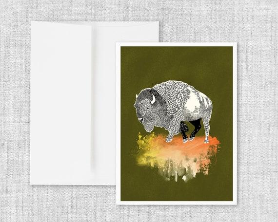 """Close Encounters"" - blank greeting card"