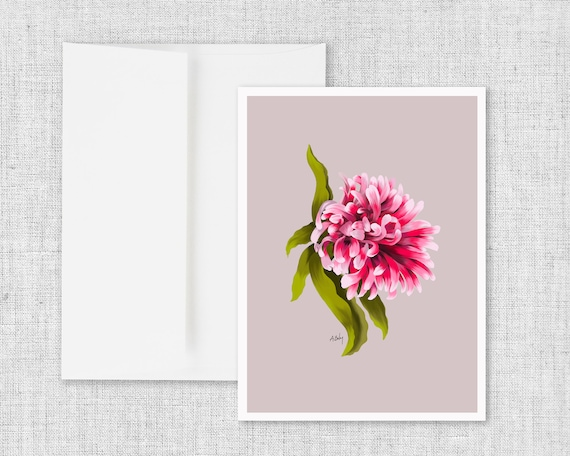 Colorful Floral Blank Greeting Card