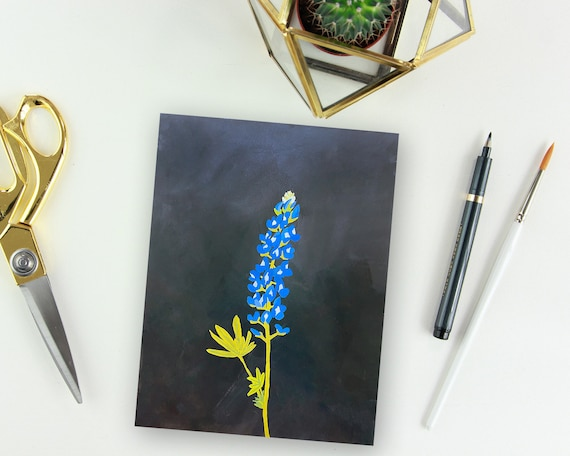 Bluebonnet Wildflower Painting