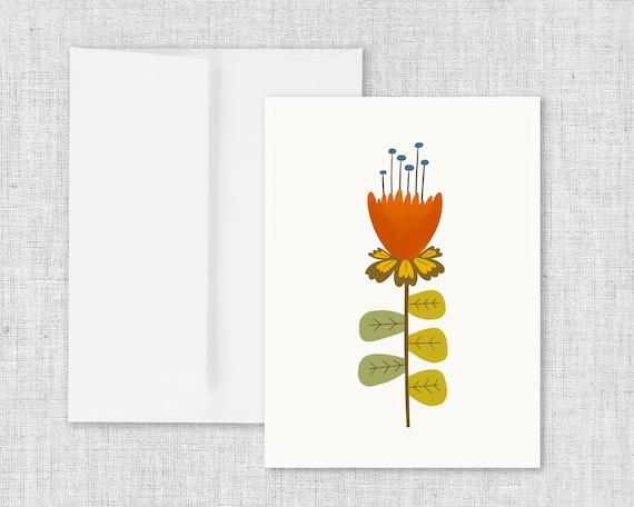 Mid Mod Flower No. 1 - Greeting Card