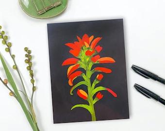 Original Indian Paintbrush Wildflower Painting