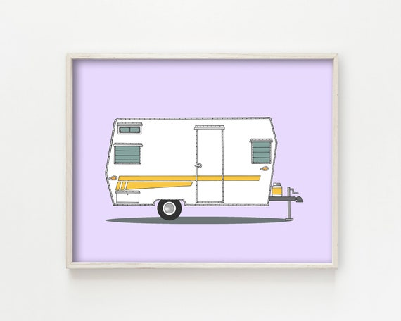 """Aristocrat Camper"" - wall art print"