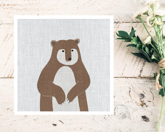 """Modern Brown Bear"" - STUDIO SALE!"