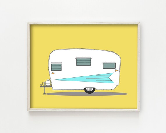 """Vintage Roadrunner Camper"" - wall art print"