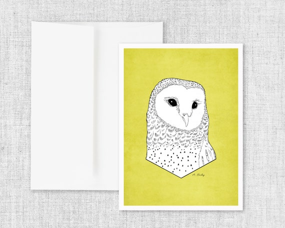 Barn Owl - Greeting Card and Envelope