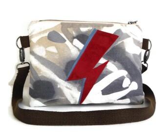 Ziggy Stardust - David Bowie Inspired - Aladdin Sane --Vegan - Crossbody Purse - Bag