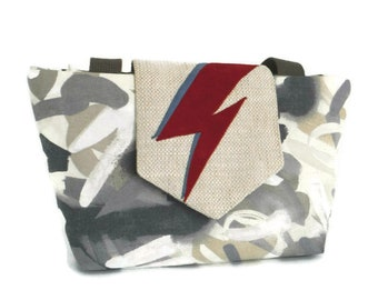 David Bowie Inspired- Ziggy Stardust Bag - Bowie Bag - Aladdin Sane - Purse - Vegan