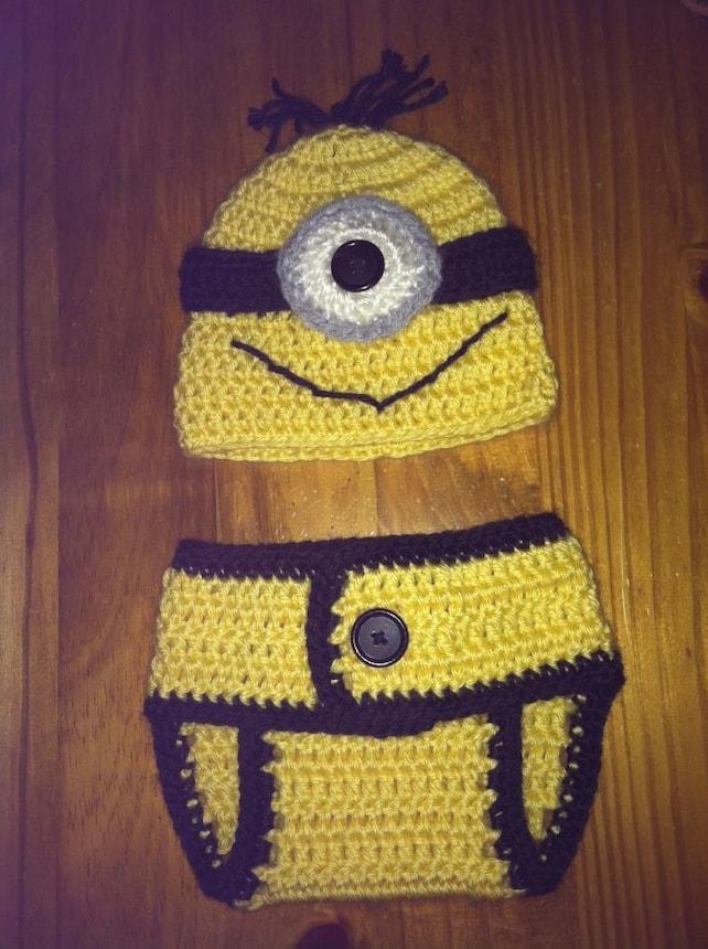 Crochet el sombrero de recién nacido SÚBDITO y pañal Cover Set   Etsy