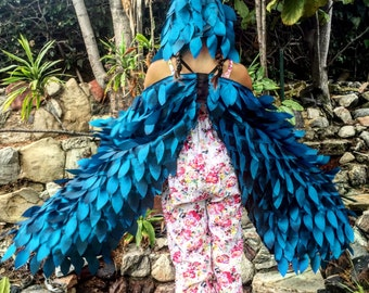 Pretend Play Blue Bird Wings, Quarantine Play, Blue Jay Dress Up Wings, Birthday Gift, Quarantine Gift, Unique Imagination Play Wings Toy