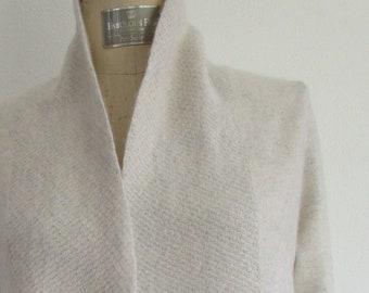 S M Cynthia Rowley CASHMERE Draped Cardigan Wrap Sweater Poncho Pashmina Barre Ballet Yoga Pilates