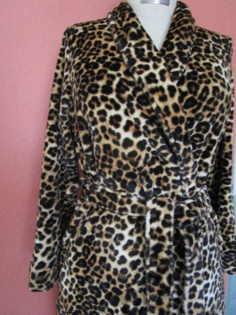 XS Leopard Gilligan OMalley Plush Wrap Robe Cuddly Soft Animal image 0