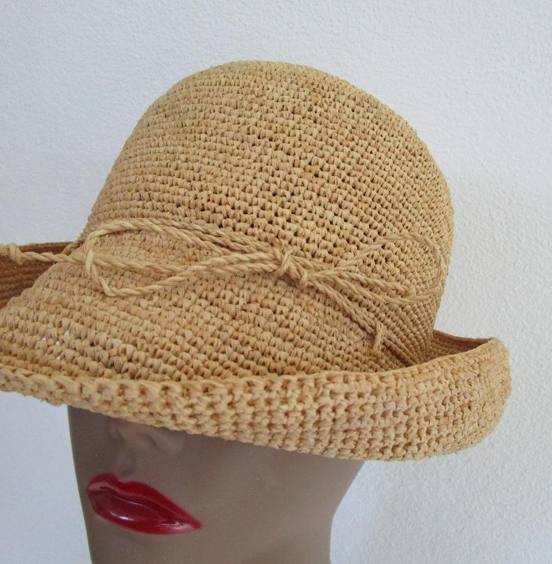 Helen Kaminski Australia Natural Raffia Straw Brim Hat Sun image 0