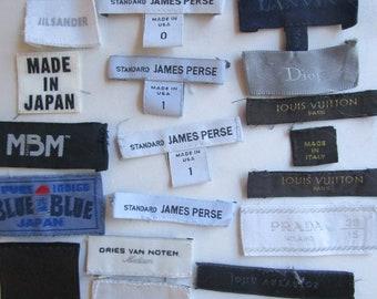 22 Designer Clothing Woven Labels Sew In Vuitton Gucci Dior Japan Lanvin Noten Boss Jacobs Boss Sander